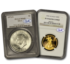 QA Coins Seal on Slabs